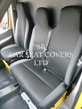 TO FIT A VW TRANSPORTER T6 VAN, SEAT COVERS, EBONY SPORTS MESH