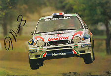 Didier Auriol Toyota Hand Signed Promo Card Rally.