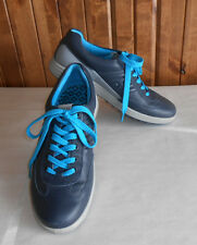 ECCO Men's Casual Hybrid Golf Shoes Size 9.5 EU 43 Navy/Turquoise Orig $160+