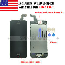 USA For iPhone 5C LCD Touch Screen Digitizer+Front Camera Ear Speak Home Button