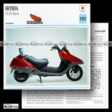 #015.18 Scooter HONDA CN 250 SPAZIO 1992 Fiche Moto Motorcycle Card