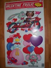 Cleo 4pc Punch Out Kit Valentines Decoration Flocked Valentine Frolic NOS