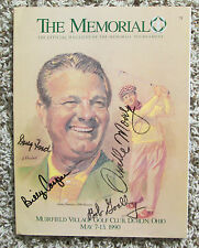 RARE PGA MAGAZINE WITH 4 AUTOGRAPHS BILLY CASPER ORVILLE MOODY +