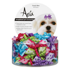"""Aria Gracie Dog Bows Canister, 48 pc DT911-48 Pet Cloths 2.5"""" x 4.3"""" x 4"""" NEW"""