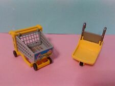 PLAYMOBIL LOTE CARRITOS SUPERMERCADO SUPERMARKET CARRO COMPRA SHOPPING CART