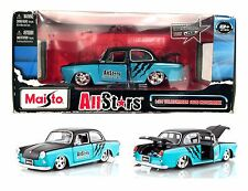MAISTO VW VOLKSWAGEN 1600 NOTCHBACK ALL STARS 1:24  DIECAST BLUE BLACK