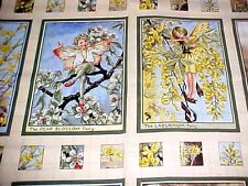 Flower Fairies Sunshine Quilting Fabric Post Card Panel Miller Cicely Barker