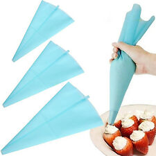 Silicone Pastry Bag Reusable Cream Icing Baking Cookie Cake Decorating DIY Tool