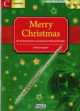 Querflöte Noten : Merry Christmas  mit CD - 45 Weihnachtslieder - leicht