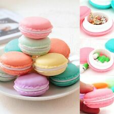 6 PCS Mini Macarons Organizer Storage Box Earphone SD Card Case Carrying Pouch