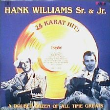 Hank Williams Sr. & Jr. / 24 Karat Hits - 2 Vinyl LP, cut-out