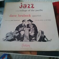 Dave Brubeck QUARTET Fantasy 313 JAZZ COLLEGE of the PACIFIC Paul Desmond RED LP