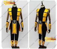 Mortal Kombat 3 Scorpion Cosplay Costume yellow MM02