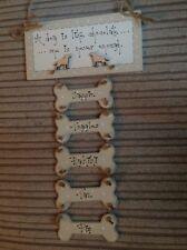 shabby chic  bespoke dog keepsake plaque sign gift Laura Ashley paint
