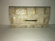 BRAHMIN SOFT CHECKBOOK CHAMPAGNE ORINOCO LEATHER WALLET/BAG/PURSE G4452940000041