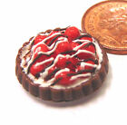1:12 Scale Cherry Flan Tart Dolls House Miniature Kitchen Dessert Accessory