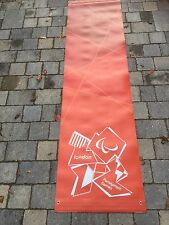 LONDON Paralympic Olympics 2012 Flag Sign Banner Mint Olympic Memorabilia Red