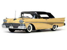 FORD 1958 FAIRLANE 500 CLOSED CONVERTIBLE in GOLD WITH BLACK TOP SUNSTAR 5281
