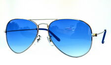 Sunglass in Aviator Style  In Royal Blue Shade  (In Case & Wiping (Goggles)