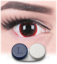 "Mini Sclera Lenses ""Hangman"" 17mm + Case black contact sclera lenses Halloween"