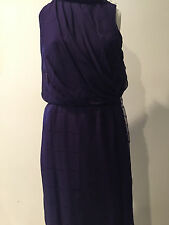 Gorgeous and Elegant Preowned Zac Posen Purple Silk dress size 4!!! ! MH
