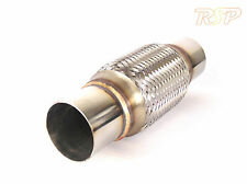 """Universal 2.5"""" Stanless Steel Exhaust Flexi Section Joint Pipe 255mm Length"""