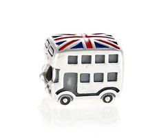 Original Genuino Encanto de Plata London Bus de 791049ER