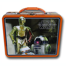 Star Wars The Force Awakens Movie R2-D2 C3PO Tin Lunch Box Case Carry All Bag OR