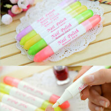 Portable Nail Art Polish Corrector Remover Pen Clean Mistake With 3 Tips DRUK