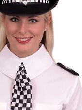 Policewoman Fancy Dress Set Collar Scarf Epaulettes WPC Police Kit by Smiffys