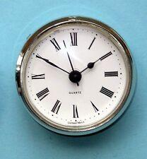Mega-Bisel De Plata 66mm De Cuarzo Movimiento de Cuarzo Reloj De Inserción Blanco Cuadrante Romano