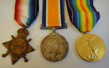 WWI Trio War Medals - Engr D Smith RNR - Ref 111