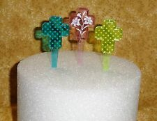 Cross,Easter,Cupcake Picks,Plastic,DecoPac,Multi-color,Decoration,12 ct.VBS16184
