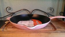 Le creuset Cast Iron CHIFFON PINK 11.75in SKILLET, 30cm RARE SOLD OUT 2 3/8 QT