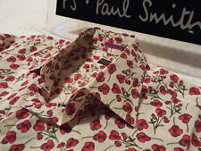 "PAUL SMITH Mens Shirt ��Size 15.5"" (CHEST 42"")�� RRP £95+�� FLORAL LIBERTY STYLE"