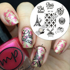 Nagel Schablone BORN PRETTY Nail Art Stamp Stamping Template Plates 36