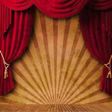 10x10FT Large Circus Curtain Stage Studio Vinyl Photography Backdrop Background