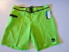 NWT Quiksilver Men's 36 AG47 Everyday Neon Lime Green Board Shorts Stretch