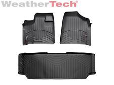 WeatherTech® FloorLiner - Dodge Grand Caravan 2nd Row w/ Bench - 2008-2012-Black