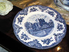 edler Speiseteller 25,5 cm Johnson Bros Old Britain Castles blau
