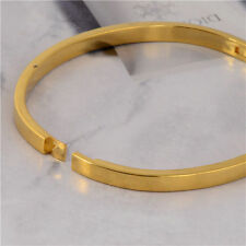 Bracelet jonc rigide fermeture clip plaqué or (gold filled)