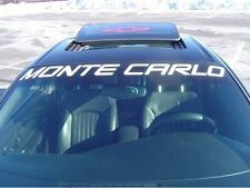 2000-2006 Monte Carlo SS Super Sport Windshield Decal, White, GM Licsensed!