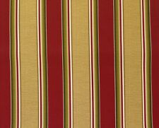 "RICHLOOM COLTRANE BRICK RED STRIPES OUTDOOR FURNITURE FABRIC BY THE YARD 54""W"