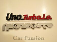 1 STEMMA SCRITTA FIAT UNO TURBO IE POSTERIORE LOGO FREGIO REAR BADGE EMBLEM sign