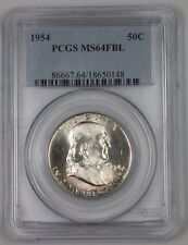 1954 Franklin Silver Half Dollar 50c Coin PCGS MS-64 FBL Peripheral Toning 1A