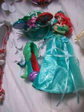 Lot of 3 Disney Ariel Shoe Mouse Hat Gown Figurine Ornament