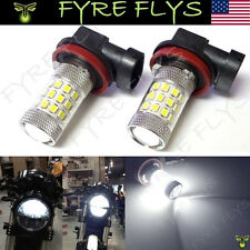 2 Xenon White 36-SMD H11 H8 LED Bulbs Projector Lens Motorcycle Headlights #L2