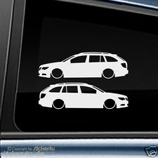 (674) 2x Fun Sticker Aufkleber /  Low and Slow Skoda Superb 3T Combi Kombi