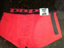 NWT PAPI  RED BLACK EURO STYLE  COOL PASS BRAZILIAN TRUNKS  SZ XL (40-42) NICE