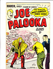 "Joe Palooka No 8 1953 Australian "" Fire Rescue  Cover ! """